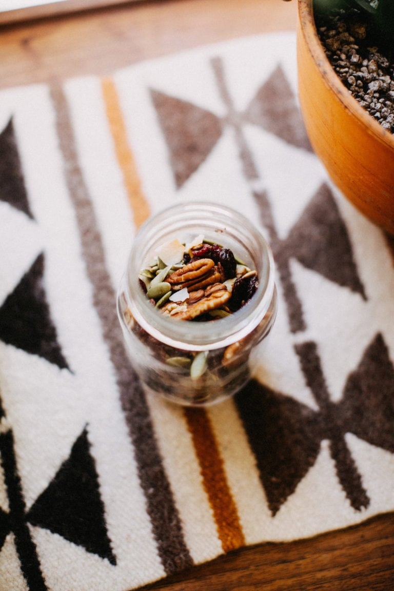 Chocolate Coconut Pecan Vegan Trail Mix